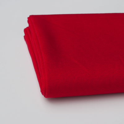 Red solid colour cotton canvas fabric