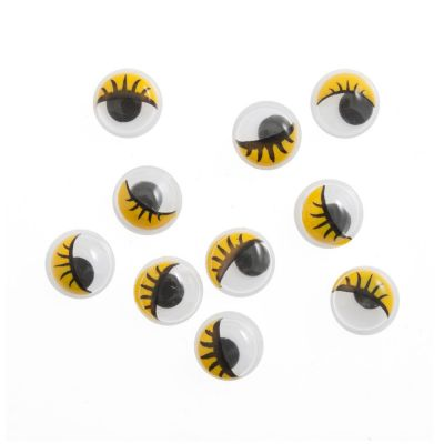 Toy / Craft Googly Yellow Eyes: Glue-On 10mm - 10 Per Pack