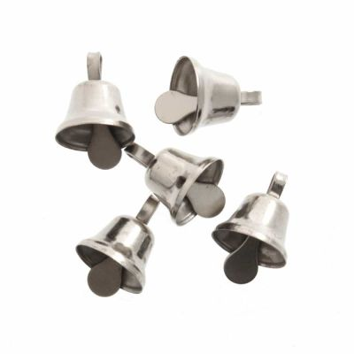 Craft Liberty Bells 10mm - Silver - 6 Per Pack