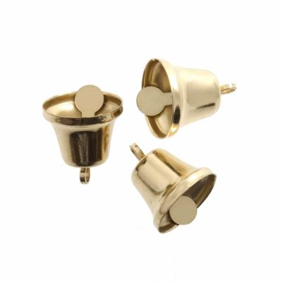 Craft Liberty Bells 14mm - Gold - 5 Per Pack