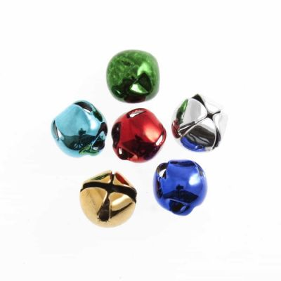 Bells: Assorted Colours 8mm - Pack of 6