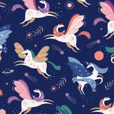Dashwood Studio - Celeste - Unicorns Navy Metallic