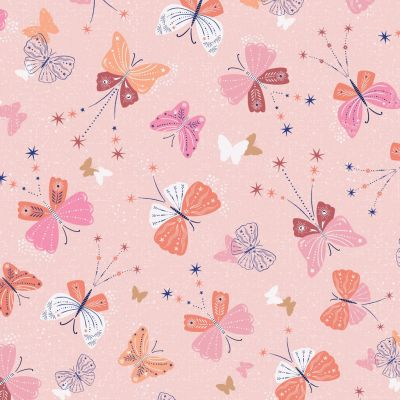 Dashwood Studio - Celeste - Butterflies On Pink Metallic