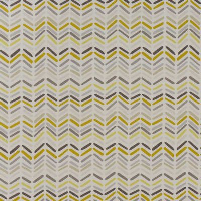 Zig And Zag - Ochre - Curtain Fabric