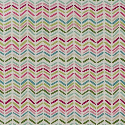 Zig And Zag - Pink - Curtain Fabric