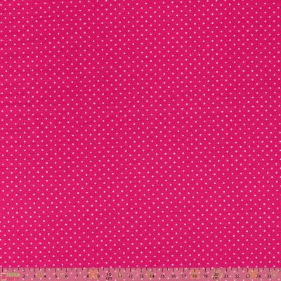 Cotton Fabric - Pinspot Cerise