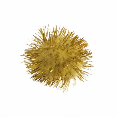 Glitter Pom Poms 25mm - Gold - 8 Per Pack