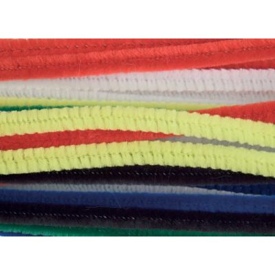 Chenilles / Pipe Cleaners - Assorted 12mm x 300mm - 15 Per Pack