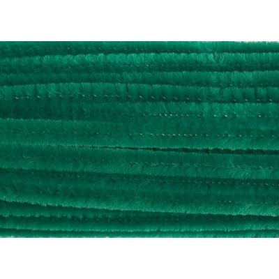 Chenilles / Pipe Cleaners - Green 12mm x 300mm - 15 Per Pack