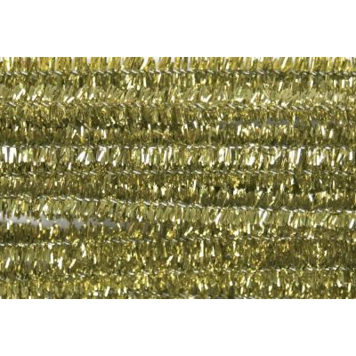 Glitter Chenilles / Pipe Cleaners - Gold 6mm x 300mm - 20 Per Pack