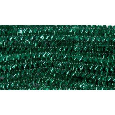 Glitter Chenilles / Pipe Cleaners - Green 6mm x 300mm - 20 Per Pack