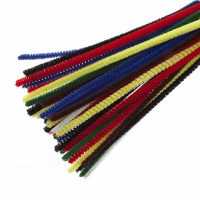 Chenilles / Pipe Cleaners - Assorted 4mm x 150mm - 30 Per Pack
