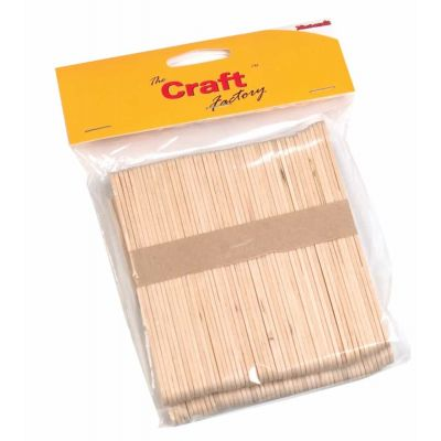 Wooden Craft / Ice Lolly Stick - Natural - 100 Per Pack