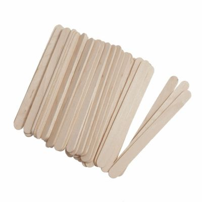 Wooden Craft / Ice Lolly Stick - Natural - 50 Per Pack