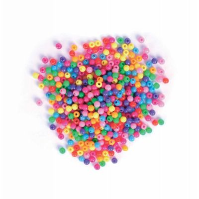 Plastic Small Beads - Vibrant Assorted - 20grams Per Pack