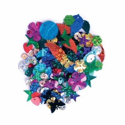Sequins Mixed Shapes - Vibrant - 20grams Per Pack