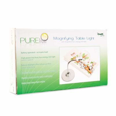 PURElite Magnifying Table Lamp 85mm Lens