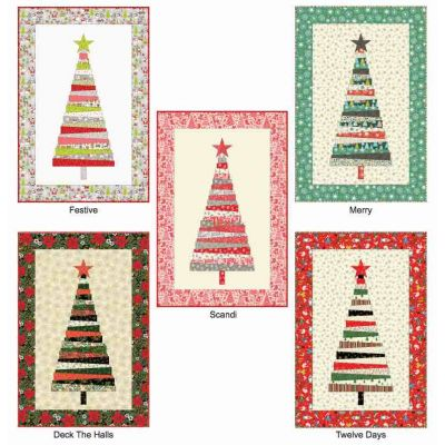 Free Christmas Tree Wallhanging Project - Makower Christmas 2019