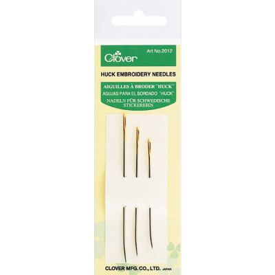 Clover Huck Embroidery Needles 3 Pack