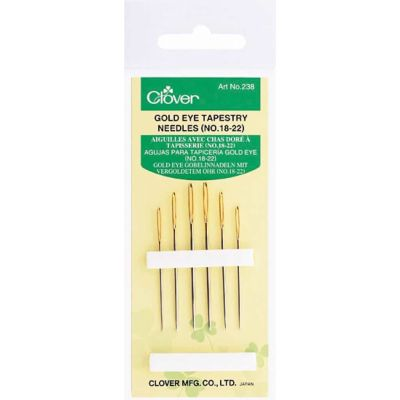 Gold Eye Tapestry Needles No. 18-22, Pack of 6