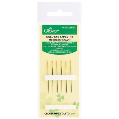 Clover Gold Eye Tapestry Needles No. 24, Pack of 6