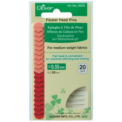 Clover Flat Flower Head Pins: 0.55mm x 50mm 20pcs