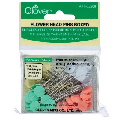 Clover Flat Flower Head Pins: 0.70mm x 54mm 100pcs