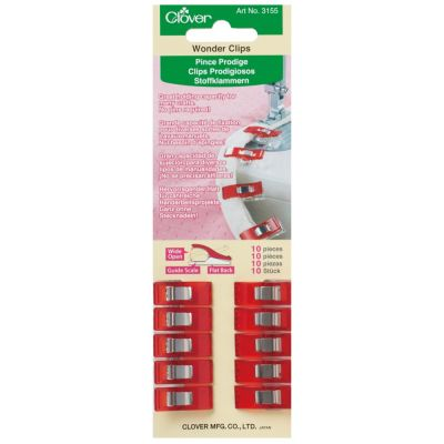 Clover Wonder Clips (10 Red Pieces) - Amazing Fabric Grips