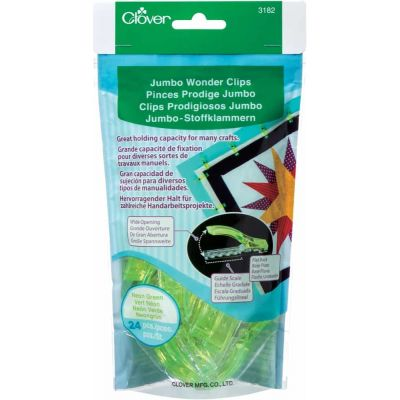 Jumbo Wonder Clip Neon Green 24 Per Pack