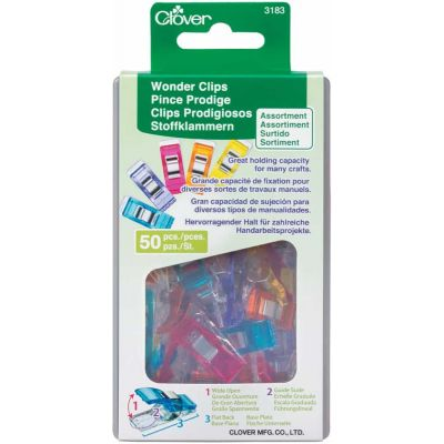 Wonder Clip Assorted Colours 50 Per Pack