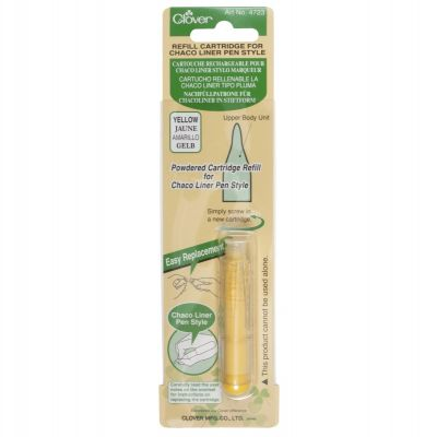 Clover Chaco Liner Pen Style Refill Cartridge - Yellow