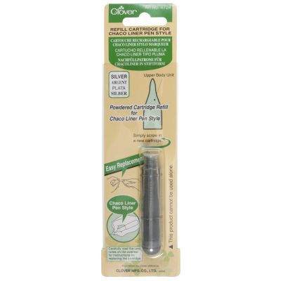 Clover Chaco Liner Pen Style Refill Cartridge - Silver