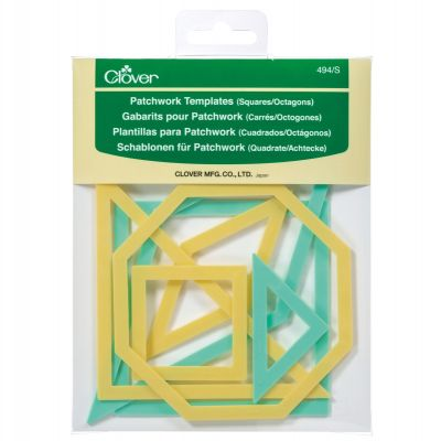 Clover Patchwork Templates - Square/Octagon - 7 Piece pack