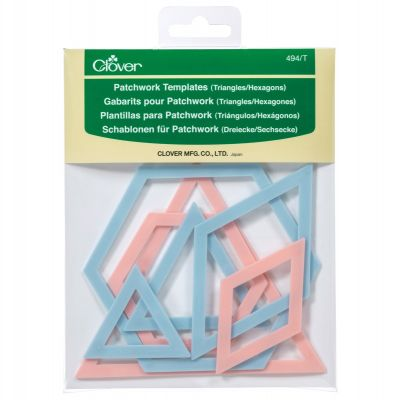 Clover Patchwork Templates - Triangle/Hexagon  - 7 Piece pack