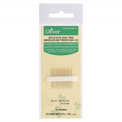 Clover Gold Eye Quilting Needles Betweens Size No 10: 15 to a Pack