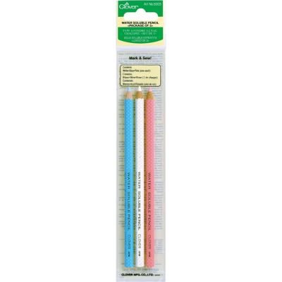 Clover Water Soluble Pencils - Pack Of 3 Colours