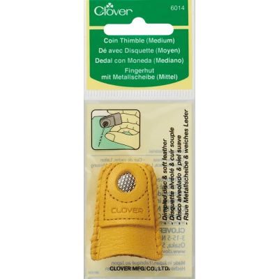 Clover Medium Leather Coin Thimble