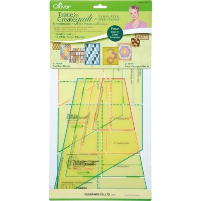 "Clover Trace n Create Quilt Templates - Grandmother's Patch Set 2"" - 10"""