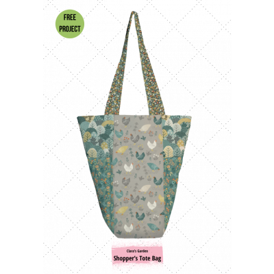Makower - Claras Garden - Tote Bag Pattern - Free Instant Download