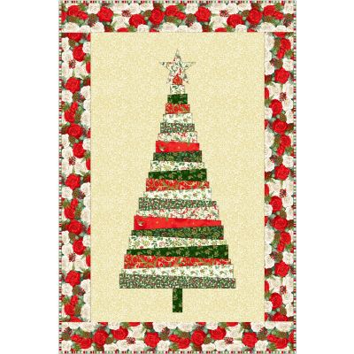 Makower - Classic Foliage- Christmas Tree Wall Hanging - Free Project - Free Instant Download