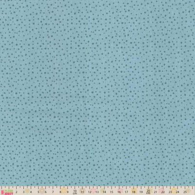 Clothworks Super Bad Monsters Spots Aqua Cut Length