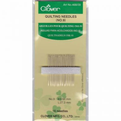 Clover Gold Eye Quilting Needles Betweens Size No 9: 15 to a Pack