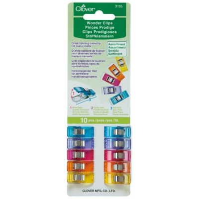 Clover Wonder Clips (10 Assorted Pieces) - Amazing Fabric Grips