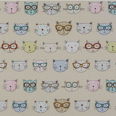 Cool Cats Curtain Fabric