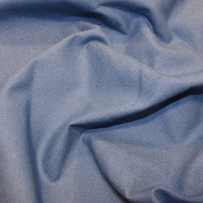 Remnant -Copen Blue Solid Cotton Canvas - 80 x 150cm