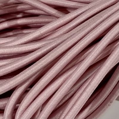 Round Elastic Cord - 3mm Wide - Baby Pink