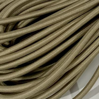 Round Elastic Cord - 3mm Wide - Taupe