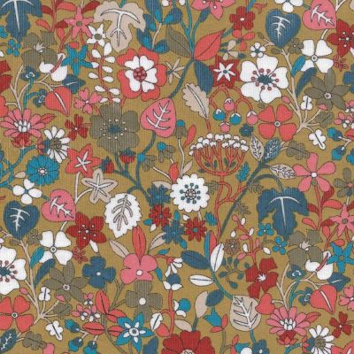 Dashwood - Kaleidoscope Corduroy - Floral On Khaki