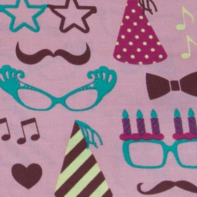 Cosmo - Moustaches & Specs Pink