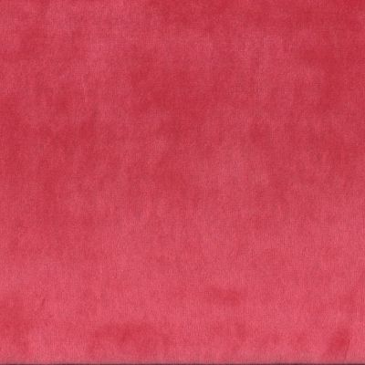 Stretch Cotton Velour Plush Fabric - Red